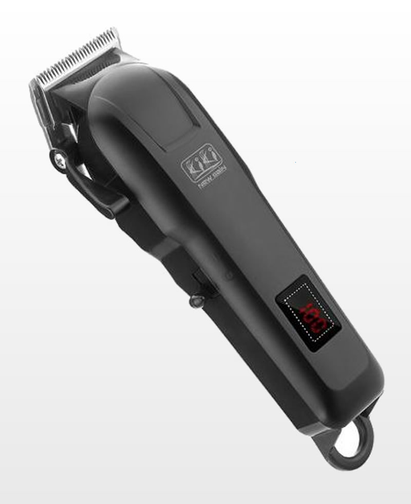 Original Kiki New Gain Rechargeable Convenience Hair Clipper With Led Battery Display - Silver