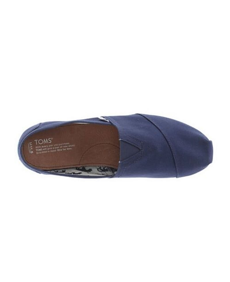 TOMS Mens Classic Canvas Casual Slip-On Shoes - Black
