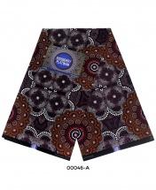 Rossberry Platinum Brown Floral Ankara Fabric - 6 Yards