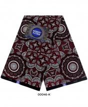 Rossberry Platinum Dark Brown Flora Ankara Fabric - 6 Yards