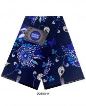 Rossberry Platinum Blue Flora Ankara Fabric - 6 Yards