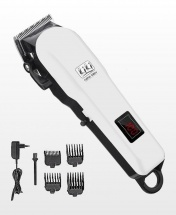 Original Kiki New Gain Rechargeable Convenience Hair Clipper With Led Battery Display - White