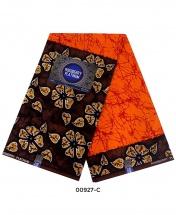 Rossberry Platinum Orange with Brown Petals Ankara Fabric - 6 Yards