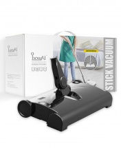 3-in-1 Wireless Automatic Handheld Rechargeable Stick Vacuum Cleaner, Sweeper and Mop - Black