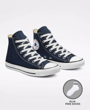 Converse All Star Unisex High Top Sneakers Shoes - Navy