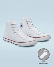 Converse All Star Unisex High Top Sneakers Shoes - White
