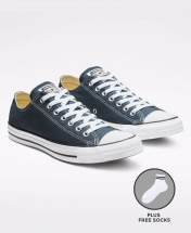 Converse All Star Unisex Low Top Sneakers Shoes - Navy