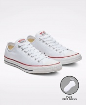 Converse All Star Unisex Low Top Sneakers Shoes - White