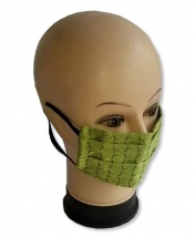2-Pcs Multi Usage Anti-Dust Anti-Cold Cotton Protective Face Mask - Green