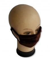 2-Pcs Multi Usage Anti-Dust Anti-Cold Cotton Protective Face Mask - Brown Suede