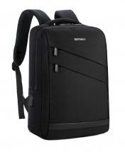 Meinaili Waterproof Multi-functional USB Charging Backpack - Black