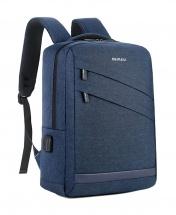 Meinaili Waterproof Multi-functional USB Charging Backpack - Blue