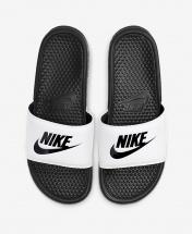 Nike Benassi JDi Slides - Black and White