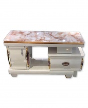 Modern TV Stand with Drawers - White