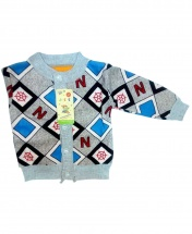 Baby Boys' Long Sleeve Round Collar Sweater Cardigan Age 3 - 12 Months