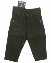 Baby Boys' Slim Straight Olive Chinos Trousers Age 3 Months - 8 Years