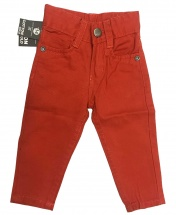 Baby Boys' Slim Straight Red Chinos Trousers Age 3 Months - 8 Years