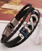 Men's Fashion X-Design Bracelet - Brown