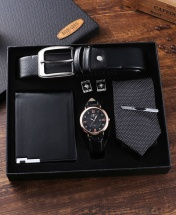 Moongrass 5-Piece Exquisite Men's Gift Set - Black