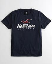 Hollister Cotton Short Sleeve T-Shirt  - Navy Blue