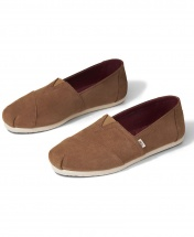 TOMS Classic Canvas Casual Slip-On Shoes - Brown