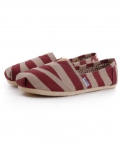 TOMS Classic Canvas Casual Slip-On Shoes - Brown Zebra