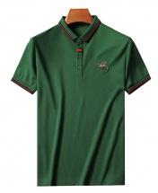 Men's Premium Little Bee Pure Cotton Short Sleeved Sport Polo Shirt - Green