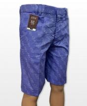 Conak Blue Linen Blend Summer Shorts