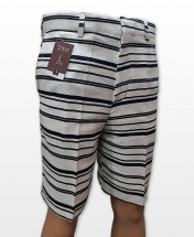Conak Black Stripes Linen Blend Summer Shorts