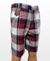 Conak Checkered Linen Blend Summer Shorts