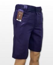 Conak Navy Blue Linen Blend Summer Shorts