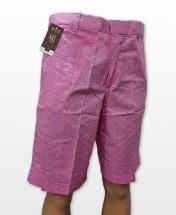Conak Pink Polka Dots Linen Blend Summer Shorts