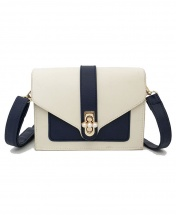 Women's New Wave Retro Fashion Shoulder Messenger Handbag - Blue