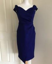 Debs Blue Wrap Pencil Dress