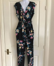Wallis Floral Belted Jumpsuit