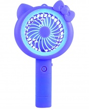 Mini Handheld Portable Powder Cat Rechargeable Hand Fan with LED Night Light and Base USB Charging