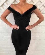 Women's New Fashion Off Shoulder Pencil Dress