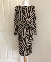 Zebra Wrap Midi Dress