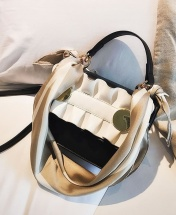 Women's Fashion Wild Messenger Shoulder Square Crossbody Sling Handbag - Black