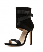 Women's Classy Thin High Heeled Roman Pumps Sandals - Black