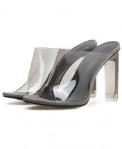 Women's Transparent Slide Heel