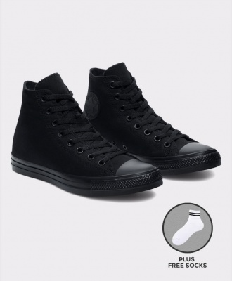 Converse All Star Unisex High Top Sneakers Shoes - All Black