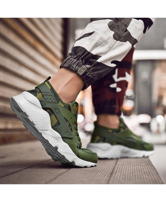 Men's Fashion Lightweight Casual Sneakers Sport Shoes - Green