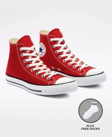 Converse All Star Unisex High Top Sneakers Shoes - Red