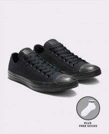 Converse All Star Unisex Low Top Sneakers Shoes - All Black