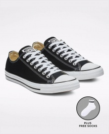 Converse All Star Unisex Low Top Sneakers Shoes - Black