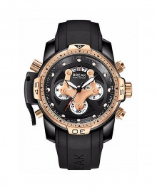 Break Multi-Function Waterproof Luminous Military Watch - Gold