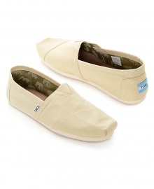 TOMS Classic Canvas Casual Slip-On Shoes - Khaki