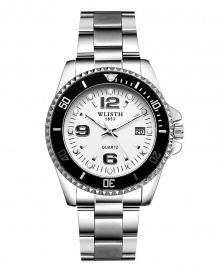 Wlisth 1853 Men's Corporate Chain Watch - White Face