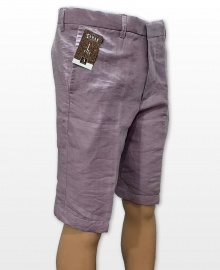 Conak Lilac Linen Blend Summer Shorts